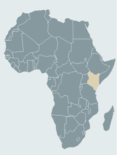 kenya map africa