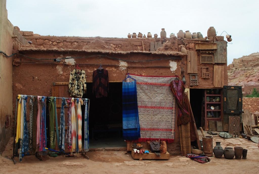 Markets in Morocco fabrics