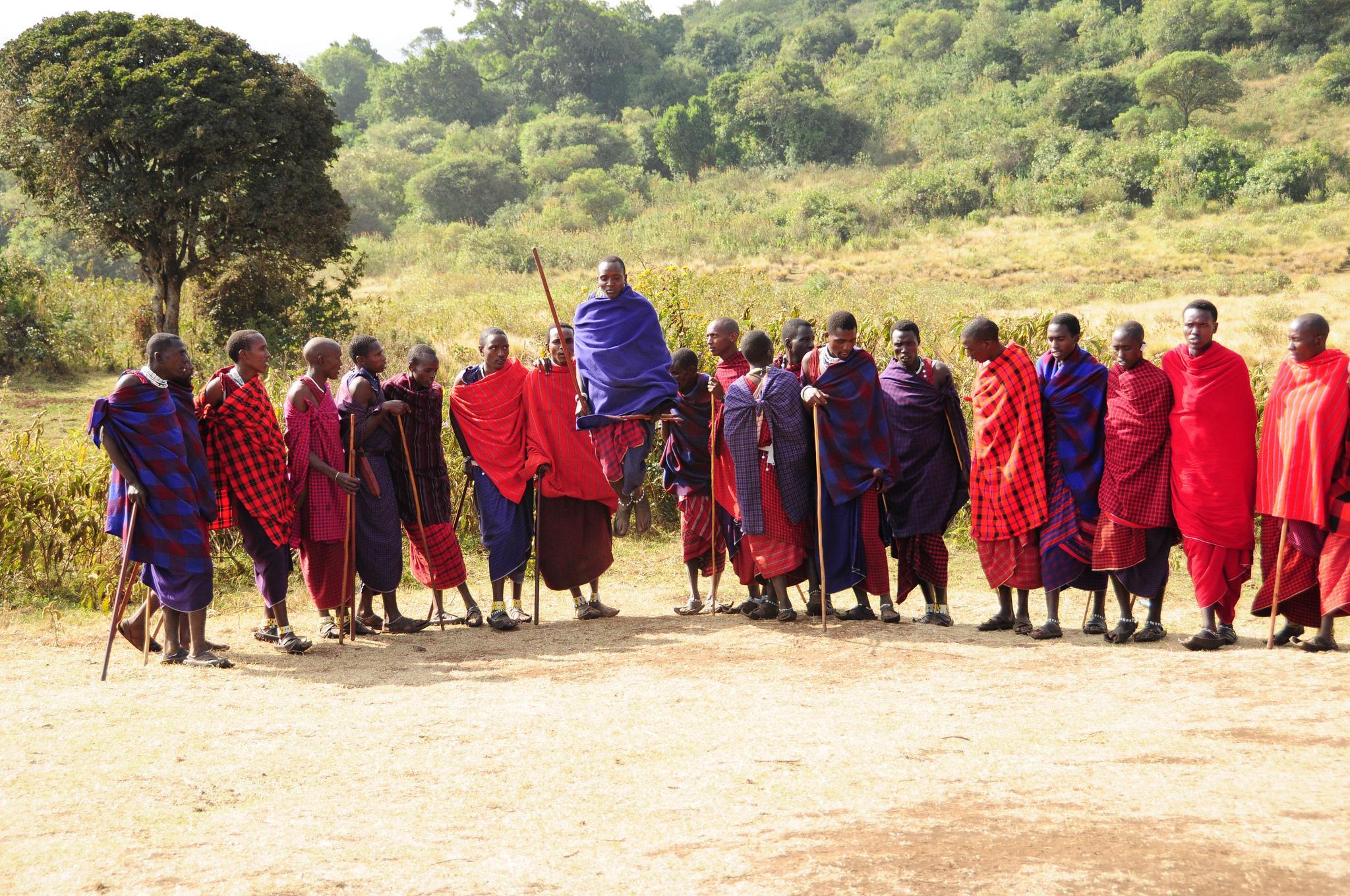 maasai jumping dance tanzania