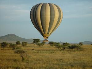 balloon safari in serengeti