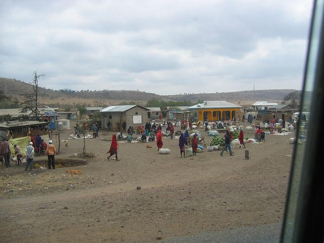 what to do in arusha - visit real maasai market
