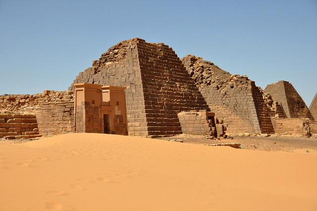 Meroe Pyramids Backpacking sudan female solo travel