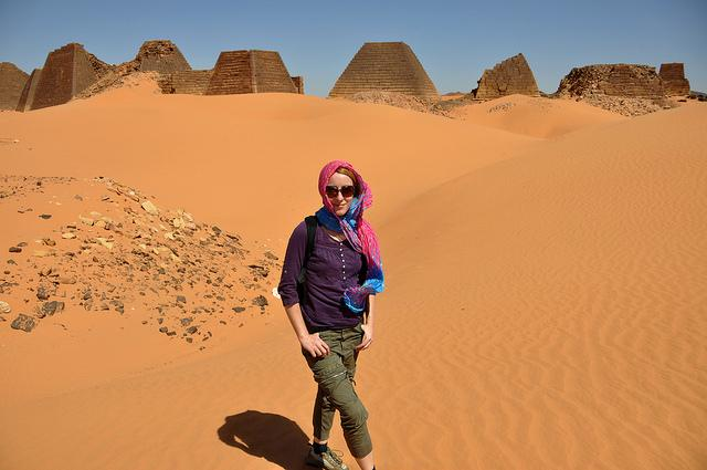 Meroe Pyramids Backpacking sudan female solo traveling