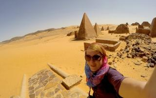 Meroe pyramids sudan backpacking on your own