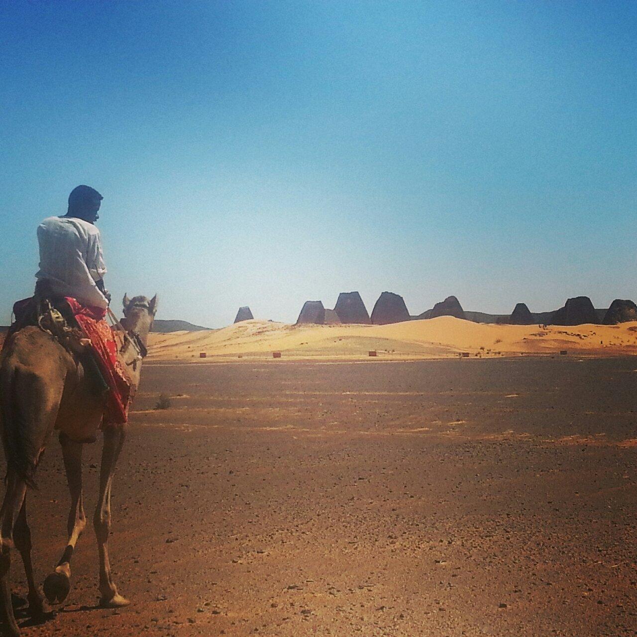 meroe pyramids sudan solo travel