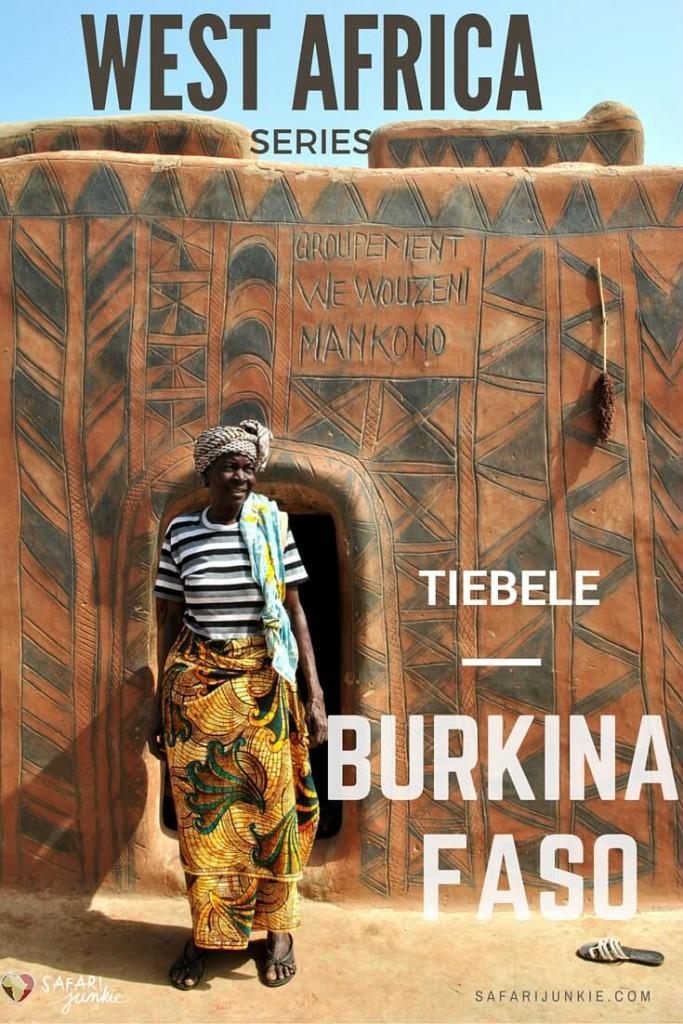 Tiebele painted houses Burkina Faso village