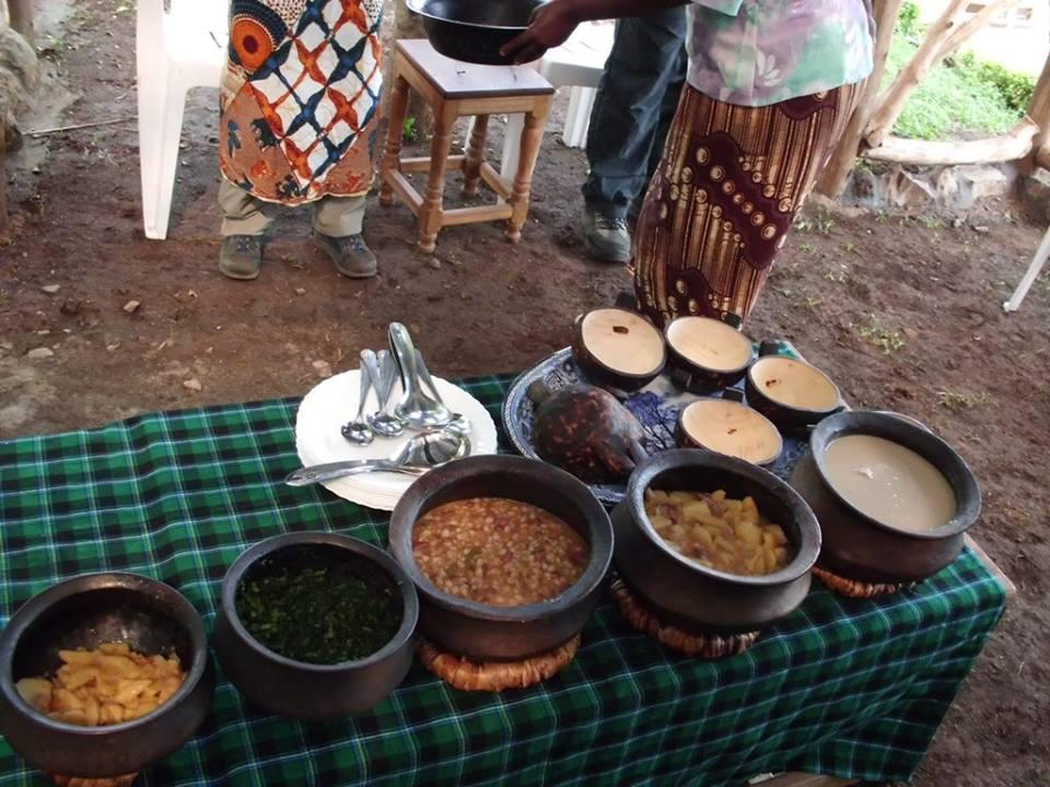 Spend Three Days in Chagga Village Tanzania local chagga lunch