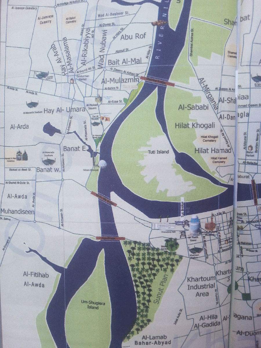 Khartoum City Map For Easier Orientation Safari Junkie