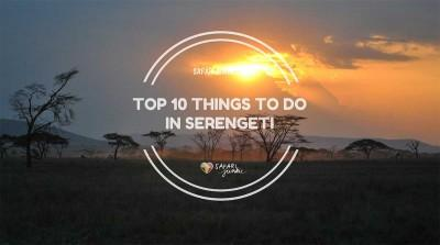 Top 10 Things to do in Serengeti National Park tanzania safari