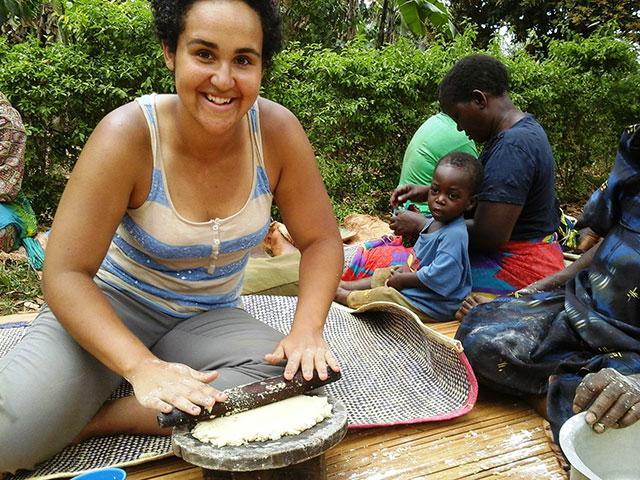 volunteering-Uganda-learning-how-to-make-kabalagala-banana-pancakes