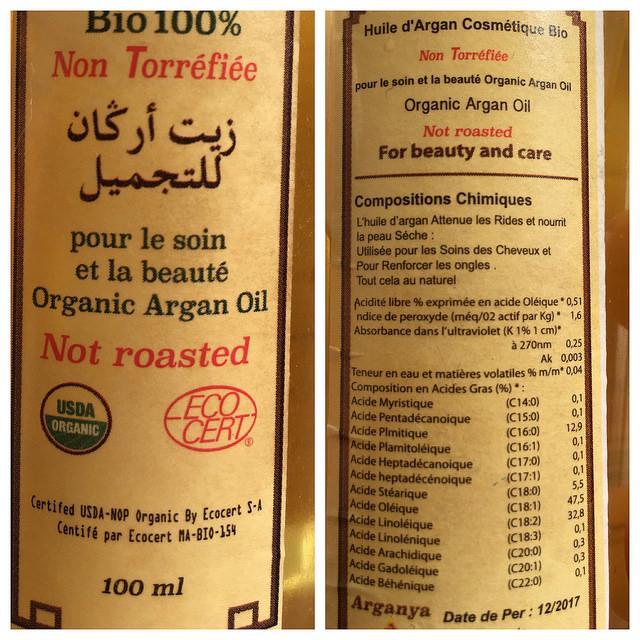 argan oil ecocert Morocco