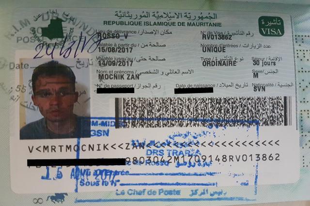 Crossing Border from Senegal to Mauritania visa
