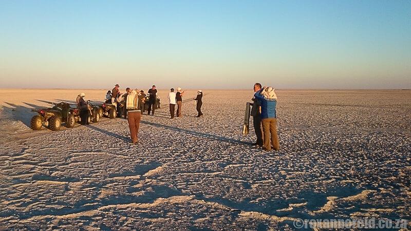 Quad biking Botswana Makgadikgadi pans