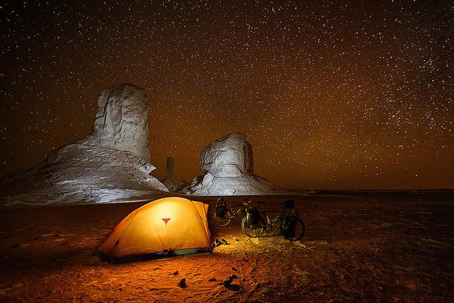 Best of Africa Destinations White Desert Egypt by night
