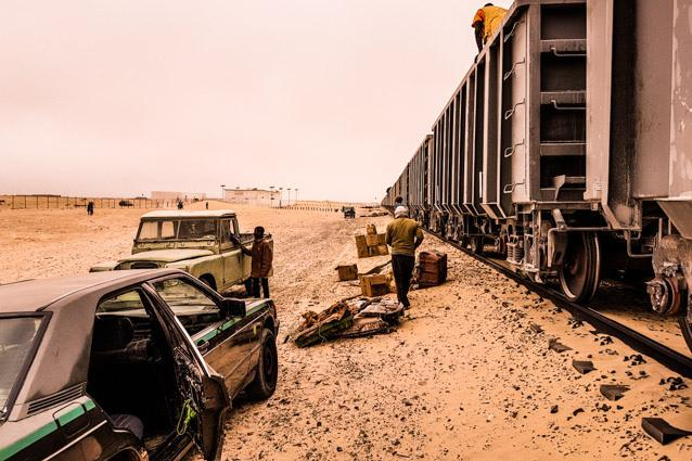 iron ore train Mauritania from Choum to Nouadhibou