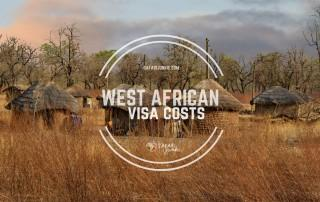 west african visa prices and costs