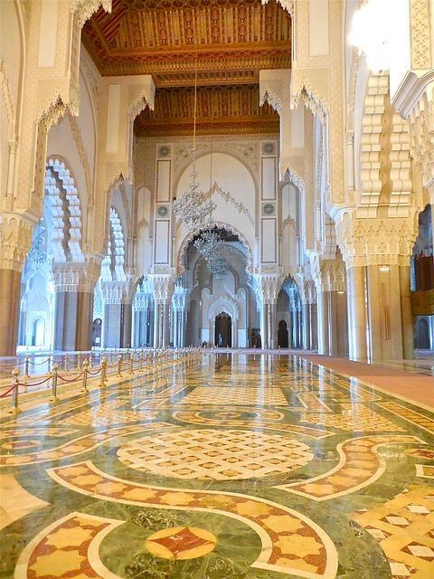 hassan mosque casablanca interior