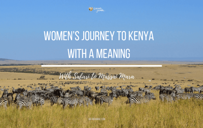 Women's Journey to Kenya Masai Mara safari